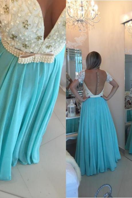Blue Prom Dresses,A-Line Prom Dress,Sparkle Prom Dress,Chiffon Prom Dress,Simple Evening Gowns,Sparkly Party Dress,Elegant Prom Dresses,Formal Gowns For Teens
