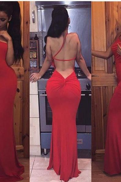 Red Mermaid Prom Dress, Formal Gown,Sexy Evening Dress